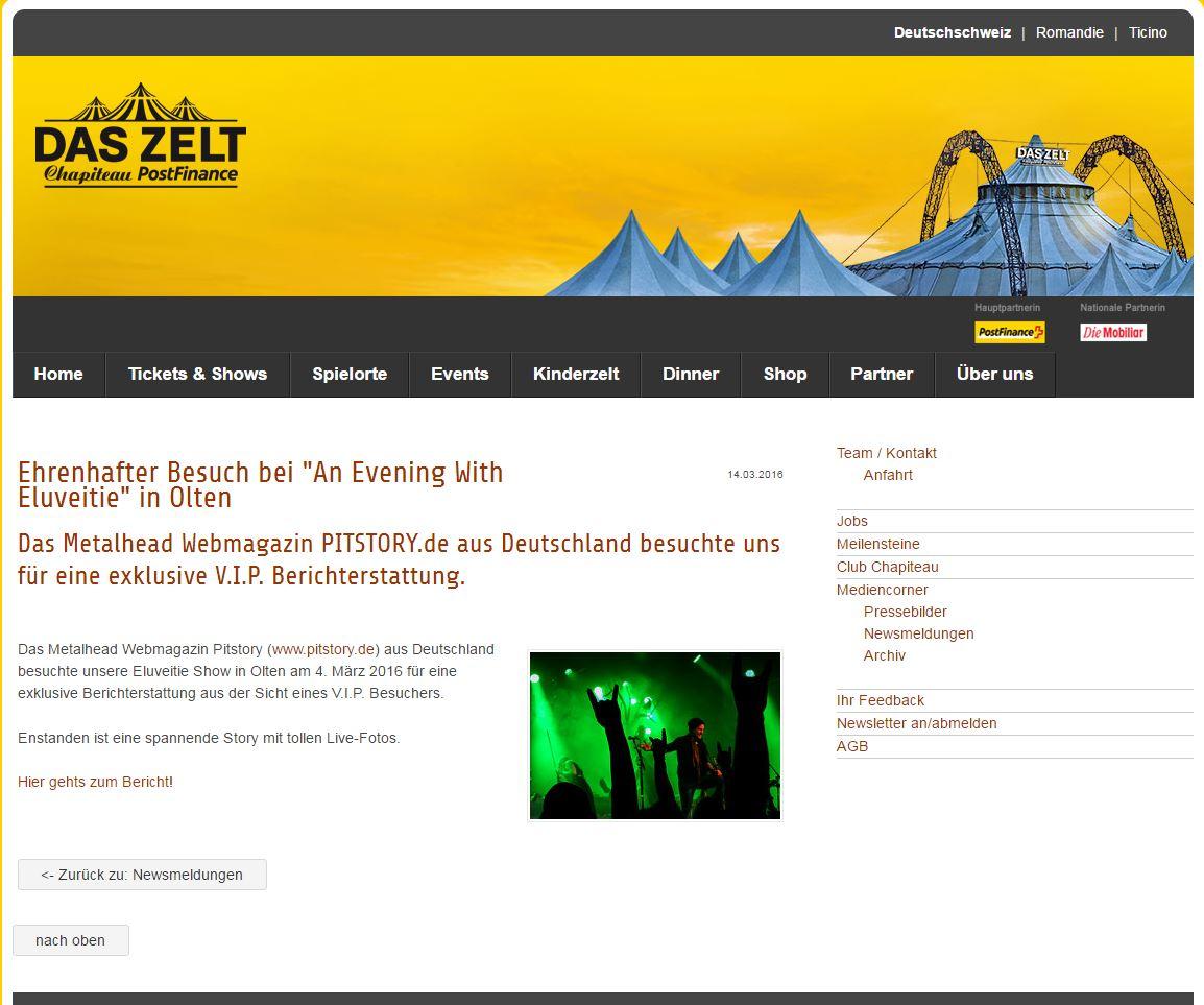 Frank Schwalm Das Zelt Eluveitie Publikation
